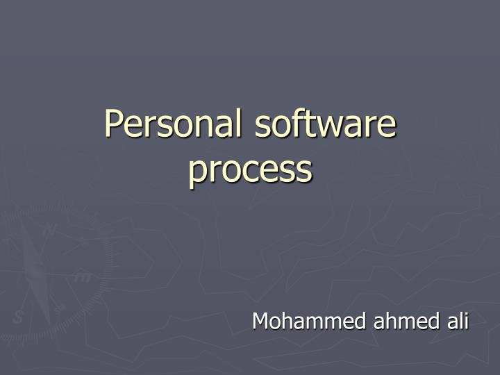 personal software process n.
