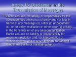 article 16 disclaimer on the transmission of messages