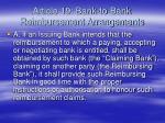 article 19 bank to bank reimbursement arrangements