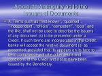 article 20 ambiguity as to the issuers of documents