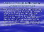 article 21 unspecified issuers or contents of documents