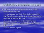 article 37 commercial invoices