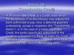 article 48 transferable credit