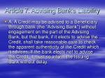 article 7 advising bank s liability