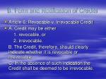 b form and notification of credits
