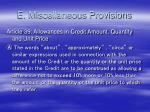 e miscellaneous provisions