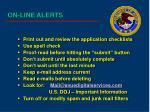 on line alerts