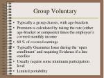 group voluntary