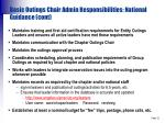 basic outings chair admin responsibilities national guidance cont