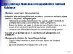 basic outings chair admin responsibilities national guidance