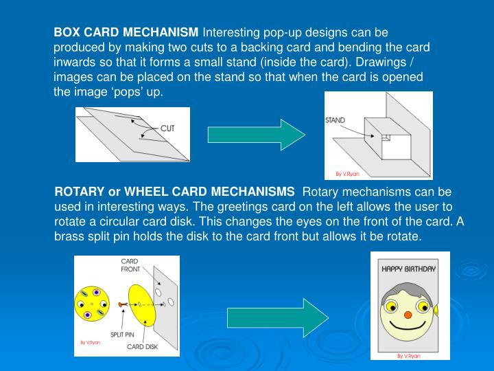 BOX CARD MECHANISM