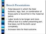 breech presentations