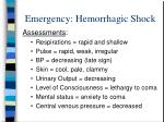 emergency hemorrhagic shock