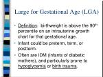 large for gestational age lga