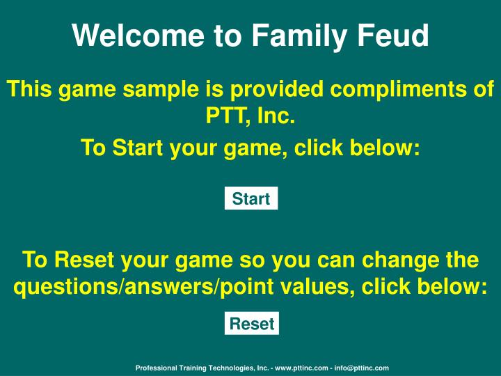 welcome to family feud n.