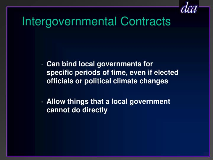 Intergovernmental Contracts