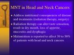 mnt in head and neck cancers