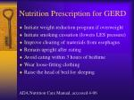 nutrition prescription for gerd