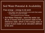 soil water potential availability