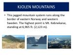 kjolen mountains