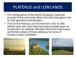 plateaus and lowlands