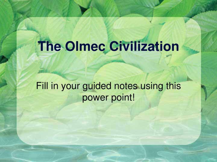 the olmec civilization n.