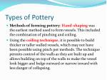 types of pottery