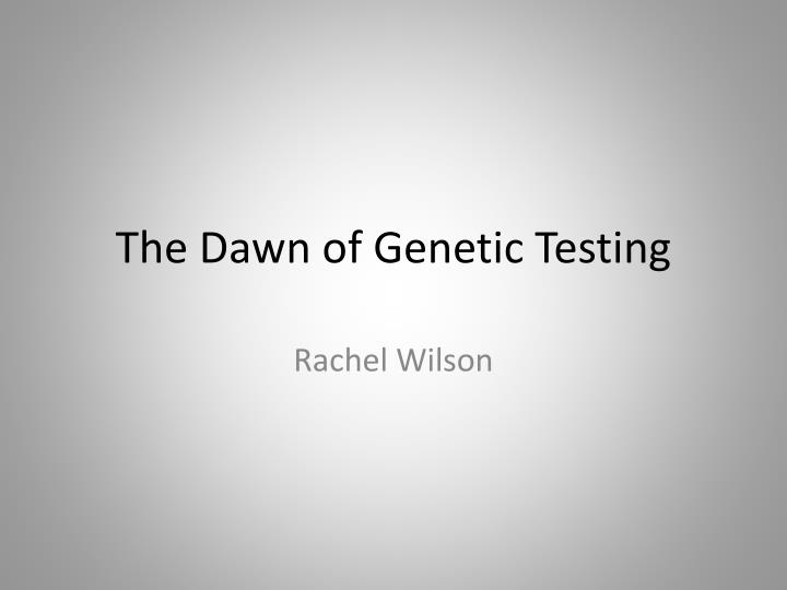 genetic testing and reproductive freedom essay Genetic engineering - genetic testing and reproductive freedom eugenics and genetic testing essay - the history of harmful eugenic practices, spurring from the nazi implementations of discrimination towards biologically inferior people has given eugenics a negative stigma (1,kitcher, 190.