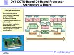 dy4 cots based g4 based processor architecture board