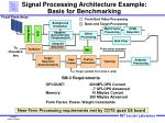 signal processing architecture example basis for benchmarking