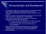 democratization and development1