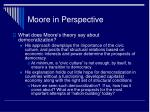 moore in perspective