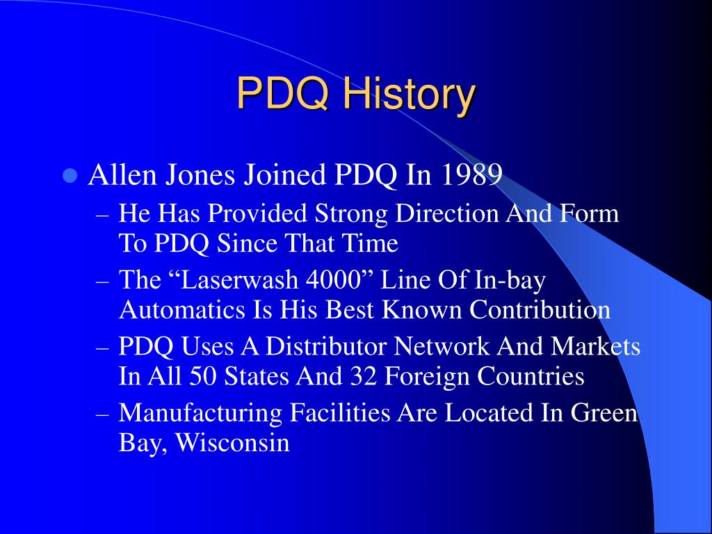 PPT - PDQ Presentation PowerPoint Presentation - ID:6694015