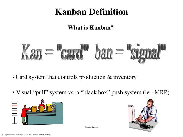 Kanban definition