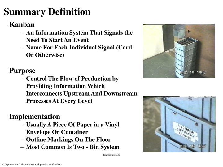 Summary Definition