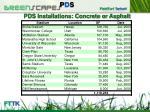 pds installations concrete or asphalt