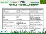 pds tile technical summary