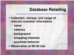 database retailing