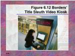 figure 6 12 borders title sleuth video kiosk