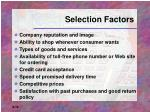 selection factors