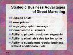 strategic business advantages of direct marketing