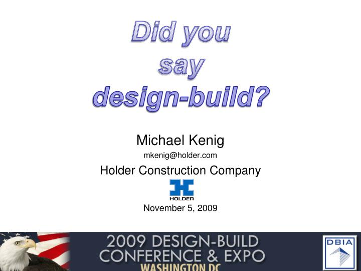 did you say design build n.