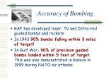 accuracy of bombing