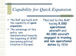 capability for quick expansion