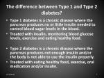 the difference between type 1 and type 2 diabetes