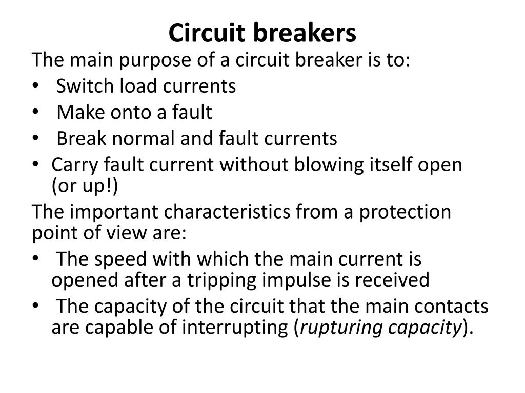Ppt Circuit Breakers Powerpoint Presentation Id 6694125