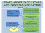 fears about panchayats and possible mitigation contd6