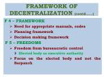 framework of decentralization contd2