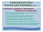 panchayati raj facts and figures contd