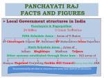 panchayati raj facts and figures